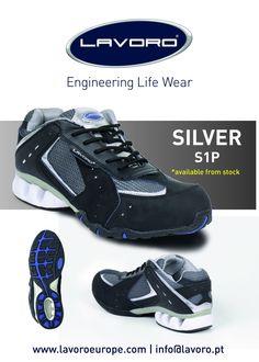 SILVER   RUN EN ISO 20345:2011 CE S1P Steel/Kevlar 35-47/2 1/2-12