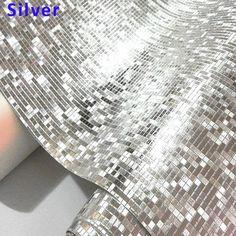 Luxury Glitter Wallpaper Vinyl Mosaic Tiles for Living Room Ceiling Wedding 3D Wall Paper Waterproof papel de parede Gold Silver