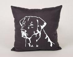 Labrador retriever dog Cotton throw Pillow Cover  16x16 by Daneeyo