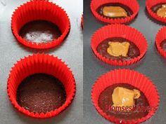 Chokolade cupcakes med karamel