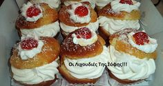 ΓΛΥΚΑ Archives - Page 4 of 18 - Igastronomie. Greek Sweets, Greek Desserts, Party Desserts, Greek Recipes, Sweets Recipes, Candy Recipes, Cinnamon Cake, Savarin, Bread And Pastries