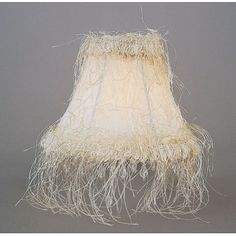 Livex Lighting Silk Chandelier Shade with Corn Silk Fringe in Ivory
