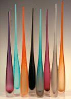 Modern, elegant Murano glass