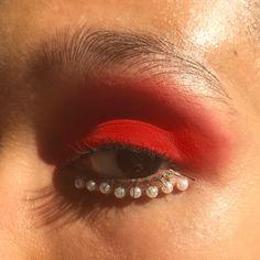 Matte powder red lids & under-eye pearl liner Makeup Goals, Makeup Inspo, Makeup Art, Makeup Inspiration, Beauty Makeup, Hair Makeup, Beauty Tips, Makeup Monolid, Makeup Ideas