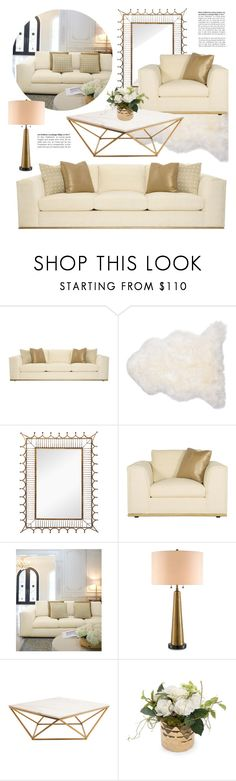 """""""Glamorous Living Room"""" by kathykuohome ❤ liked on Polyvore featuring interior, interiors, interior design, home, home decor, interior decorating, living room, livingroom, gold and white"""