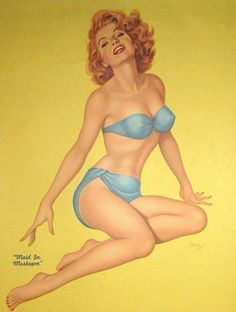 Classic Pin-Up Artists Vintage Redhead, Jorge Gonzalez, Pin Up Illustration, Photoshop, Calendar Girls, Nose Art, Voluptuous Women, Beautiful Redhead, Shopping