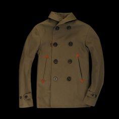 UNIONMADE - Golden Bear - Farallon Shawl Collar in Military