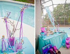Mermaid party - great colors