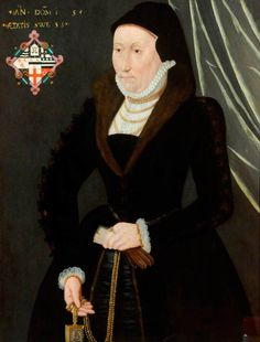 Miss Moores by British (English) School  c.1570 Mistress Moores Oil on panel, 86.3 x 67.1 cm Collection: Berwick-upon-Tweed Museum and Art Gallery