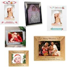 PERSONALISED Photo Frame Engraved First Christmas Family Santa Gift Present Idea