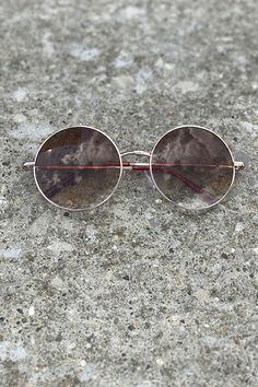 Retro Sunglasses (Gold/Gradient)