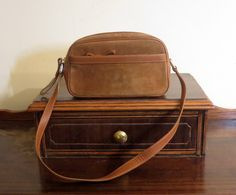 Coach Brown Suede And British Tan Leathr Trim Handbag Style No. 9439- VGC by ProVintageGear on Etsy