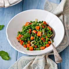 Minty Peas and Carrots