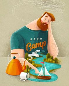 "1,737 Me gusta, 32 comentarios - Adrian Macho (@seasidespirit) en Instagram: ""#wip ⛺️ #seasidespirit #campvibes #illustration #illustrationartist #art_we_inspire #artprint…"""