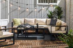 Bullerö Loungegruppe - Svart/Teak | Trademax.no Outdoor Sofa, Outdoor Furniture Sets, Outdoor Decor, Home Furnishings, Teak, Exterior, House, Sectional Sofa, Home Decor