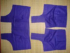 Sari blouse sewing pattern- this may be useful.