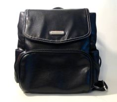 Vintage Black PVC Mini Backpack by NativeLilacVintage on Etsy, $30.00