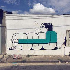 Street Art et Illustration – Les adorables créations en noir et blanc de Muretz…