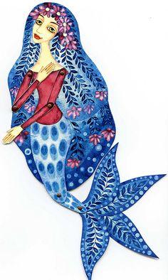 paper puppet: mermaid by mirkadolls, via Flickr