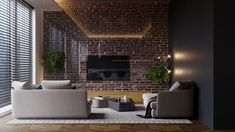 Apartment 47 on Behance Furniture, Interior, Loft, Apartment, Table, Home Decor, Conference Room Table, Interior Design