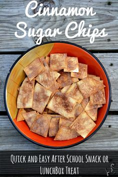 Cinnamon Sugar Chips and Apple Nacho Recipe!  These chips were SO amazing!! Will be making ASAP - plus I love they are only 4 ingredients!!