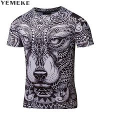 5ae421d32 Men Shirts Short Sleeve O-Neck Personalized Tshirt 3D Water Printed T Shirt  Man T