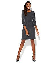 Belted V-Neck Sweater Dress - New York & Company