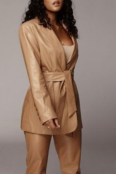 Outerwear – JLUXLABEL Mesh Bodysuit, Leather Blazer, Winter Coats Women, Fall Collections, Black Faux Leather, Girl Boss, Fur Coat, Wrap Dress, Long Sleeve