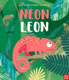 Buy Neon Leon by Jane Clarke at Mighty Ape NZ. Everyone knows that chameleons are the best at fitting in. But not Leon. Leon is neon! In fact, he's SO bright that he keeps all the other chameleons . Spot Illustration, Neon Artwork, Buch Design, Book Cover Design, Childrens Books, Kid Books, Crow Books, Baby Books, Kids