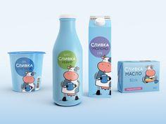 Cream. Milk & Butter. Designed by Brenda Creative Studio (Russia) Client: Novosibirsk Dairy Company