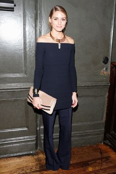 Olivia Palermo Shows How to Accessorize the Off-the-Shoulder Top