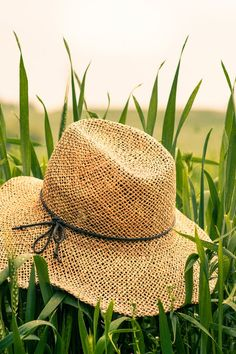 Brown Straw Hat on Green Rice Field during Daytime