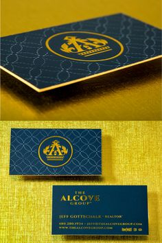 This thick 32pt silk card (double layered) professional business card has gold foil (logo and text), deboss (pattern top pic), and colored edges. This modern business card will be a definite head turner at your next meeting or mixer. This will definitely leave a lasting impression on your future clients. Click here to get your FREE sample kit and start your creative business card design TODAY!  #branding#creativebusinesscard  #businesscardideas Gold Business Card, Elegant Business Cards, Professional Business Card Design, Creative Business, Gift Card Printing, Plastic Business Cards, Top Pic, Plastic Card, Creative Cards