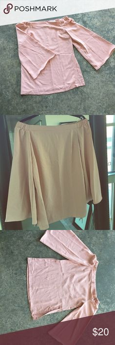 NWOT! Haute&Rebellious blush pink tunic/dress. szS Blush pink, off the shoulder! Never worn. New without tags. Purchased from Haute and Rebellious. It was listed as a dress but there are slits on the side that came too high on me. I'd suggest wearing it with shorts or pants for a tunic look, or as a dress if you're more daring than me!  haute and rebellious Tops Blouses
