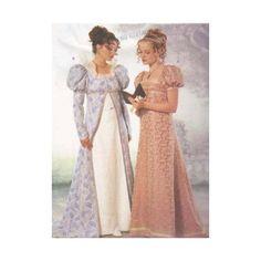Edwardian Era Jane Austen Costume Pattern by RedcurlzsPatterns