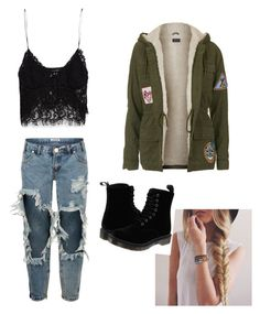 """""""Untitled #20"""" by cuchiplasti on Polyvore featuring beauty, Zara, One Teaspoon, Topshop and Dr. Martens"""