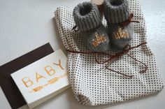 Cutest hand knit booties I have ever seen! (by @Joya Logue)