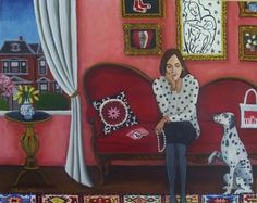 New Painting Lonely Hearts Club, painting by artist Catherine Nolin