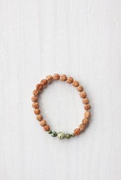 Green Jasper Mala Bracelet    Green Jasper is known as the healing stone. Not only is it believed to improve balance and harmony, it's also said to help calm emotions, ground energy and cleanse the aura while aiding the upper torso. #malabeads
