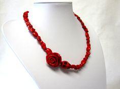 Rockabilly Red Queen Sugar Skull Necklace Day by sweetie2sweetie, $29.99