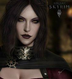 Serana Daugther of Lord Harkon and Valerica, The Elder Scrolls V: Skyrim The Elder Scrolls, Elder Scrolls Games, Elder Scrolls V Skyrim, Skyrim Vampire, Vampire Art, Tes Skyrim, Skyrim Game, Gothic Fantasy Art, Fantasy Girl