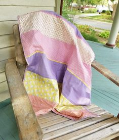 Quilt As You Go - A tutorial for a simple strip quilt at Sewn by Leila