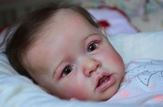"Reborn Baby Doll girl  "" Saskia ""  from Bonnie Brown , so real and beautiful !"