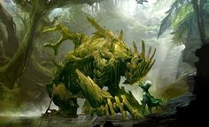 View an image titled 'Sylvari Art' in our Guild Wars 2 art gallery featuring official character designs, concept art, and promo pictures. Guild Wars 2, Fantasy Artwork, Fantasy Concept Art, Forest Creatures, Mythical Creatures, Illustration Art, Illustrations, Fantasy Monster, Creature Concept