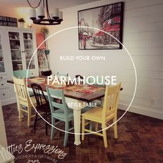 How to build a Farmhouse Table | Netties Expressions