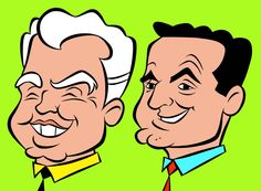 William Hanna and Joseph Barbera Comics Und Cartoons, Old School Cartoons, A Comics, Vintage Cartoons, Classic Cartoons, Cartoon Kunst, Cartoon Tv, Hanna Barbera, Marvel Characters
