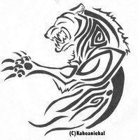 tribal wolverine tattoo - Google Search