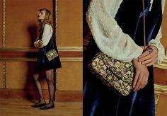 Colecciones AW15: Primark (Winter). Vestido de terciopelo y falda plumetti