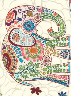 Valori Wells Fabric Karavan: Marrakech Elephant, Artisan (per 1/4 metre) The Cotton Patch
