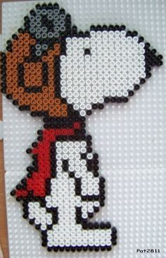 Snoopy Red Baron cross stitch pattern